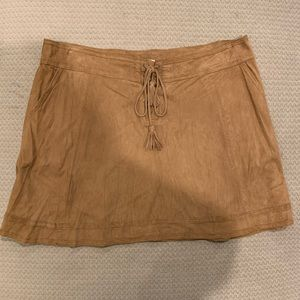 Dresses & Skirts - Brown suede skirt size L
